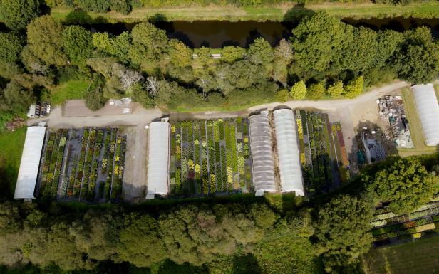 Vue aérienne des Pépinières de Port de Carhaix